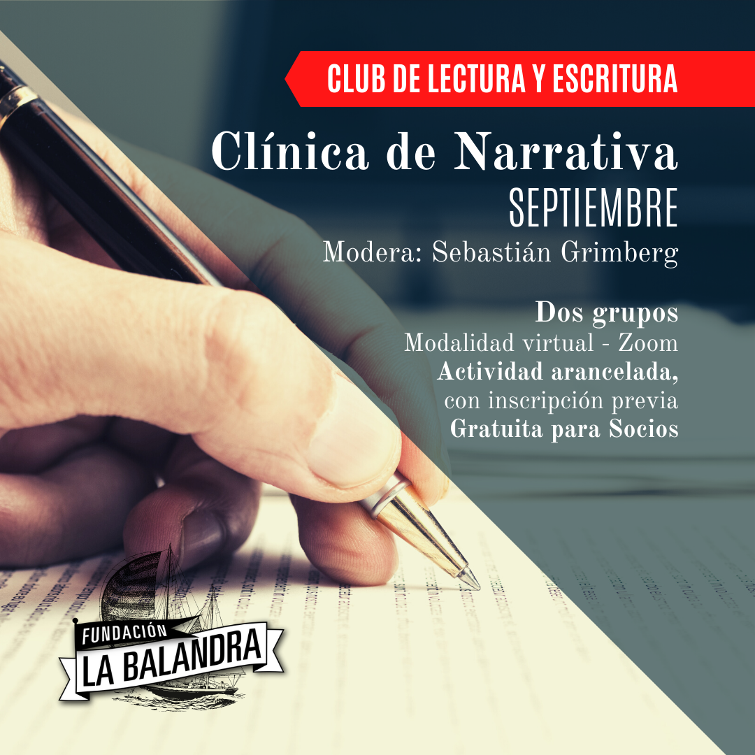 clinicas de narrativas septiembre